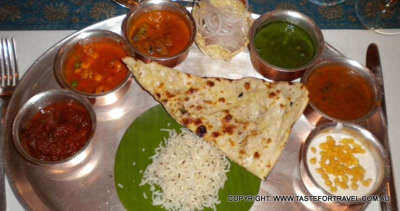 Indian vegetarian lunch