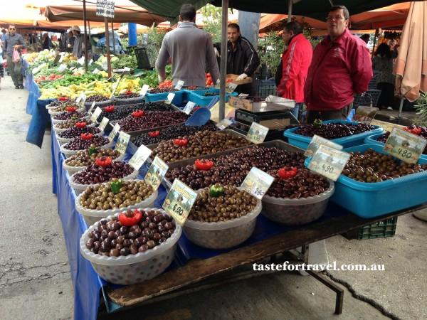 Olives at Glyfada market