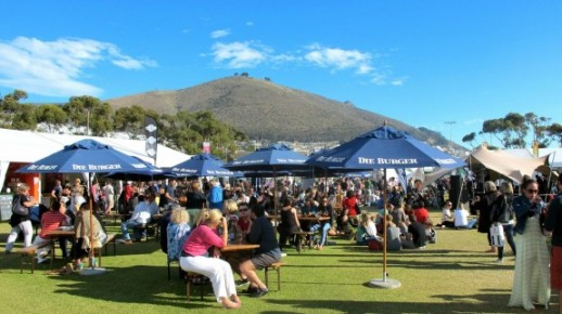 Crowds enjoying the sunshine and samping Taste of Cape Town