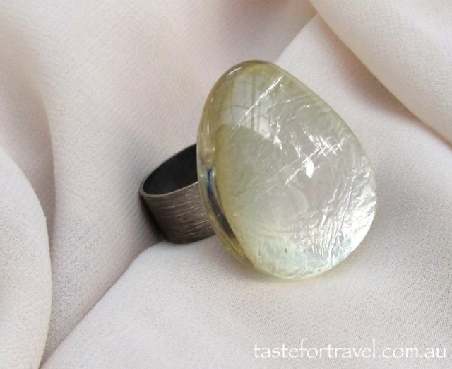 Resin Ring: Silver French Riviera