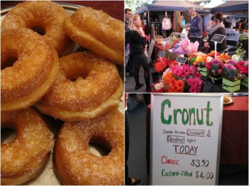 Walter Becker's cronut stall, next to the fresh flowers