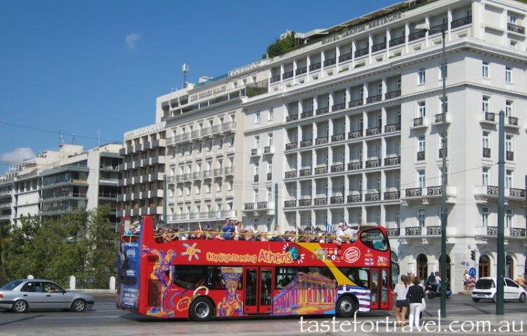 Tourist Bus on Syntagma Square, Athens