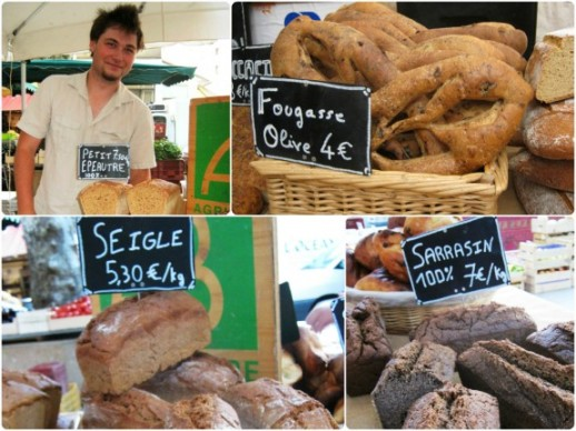 Climont and his range of artisan bread. Images copyright: Taste for Travel
