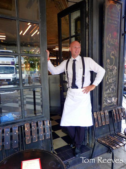 Jérôme, waiter at Café Saint-Régis, 6 Rue Jean du Bellay