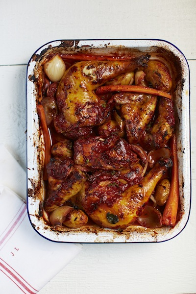 Rachel's Roast Red Wine Chicken