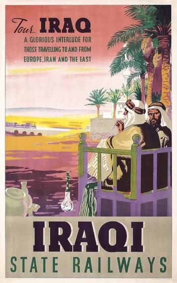 Iraqi vintage travel poster