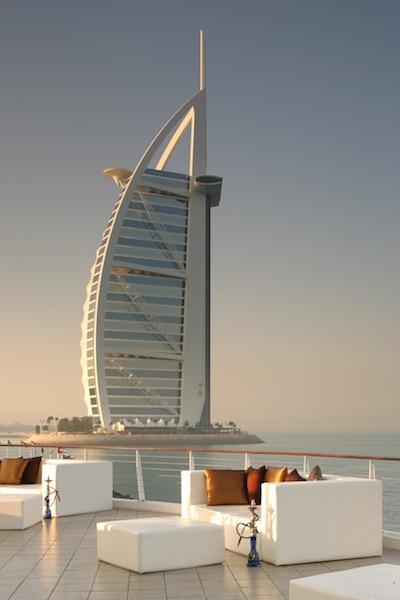 The beach and Burj Al Arab