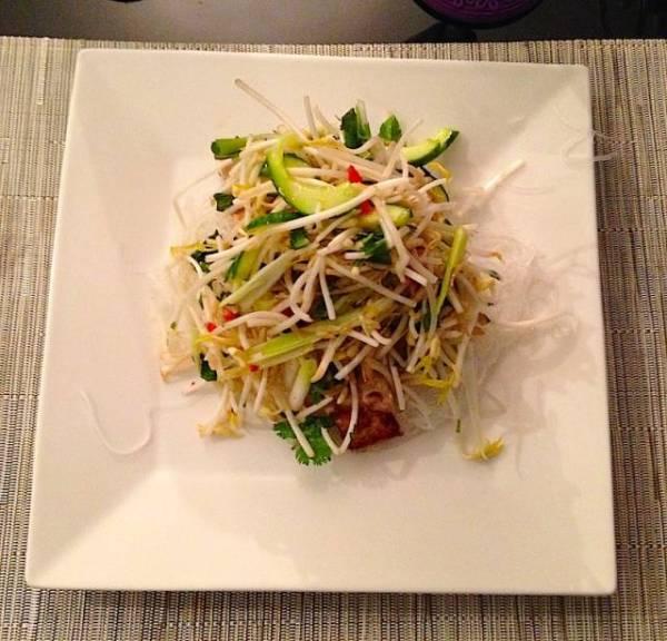 Vietnamese salad. Airbnb