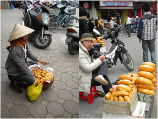Street food sellers, Hanoi