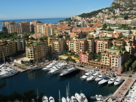 View of hilly Monaco