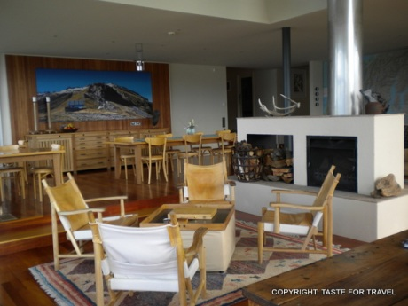 Fireside at Whare kea Lodge