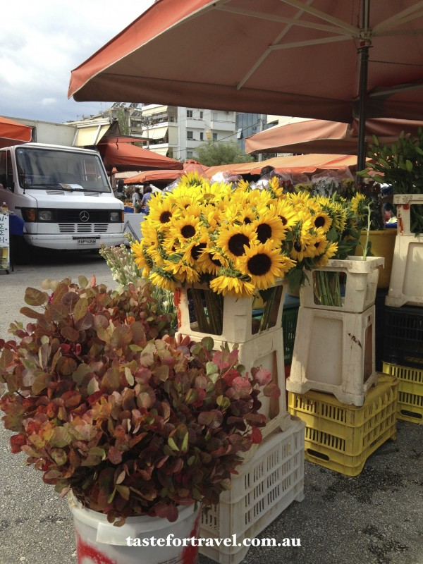 Autumn flowers at the Glyfada market