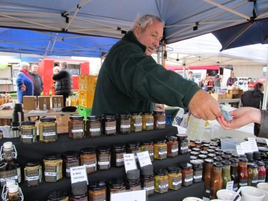 Roger Dix of Granwick Gourmet, at Feilding Farmers Market