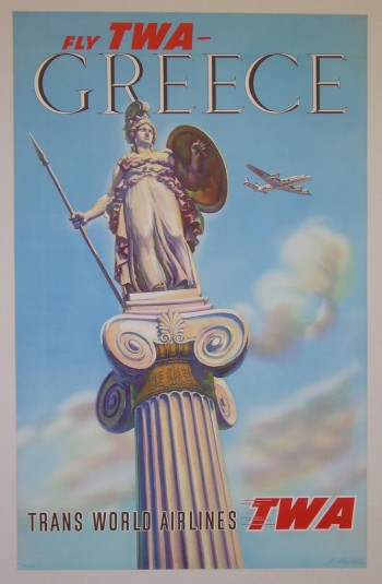 Athena Greece vintage travel posters