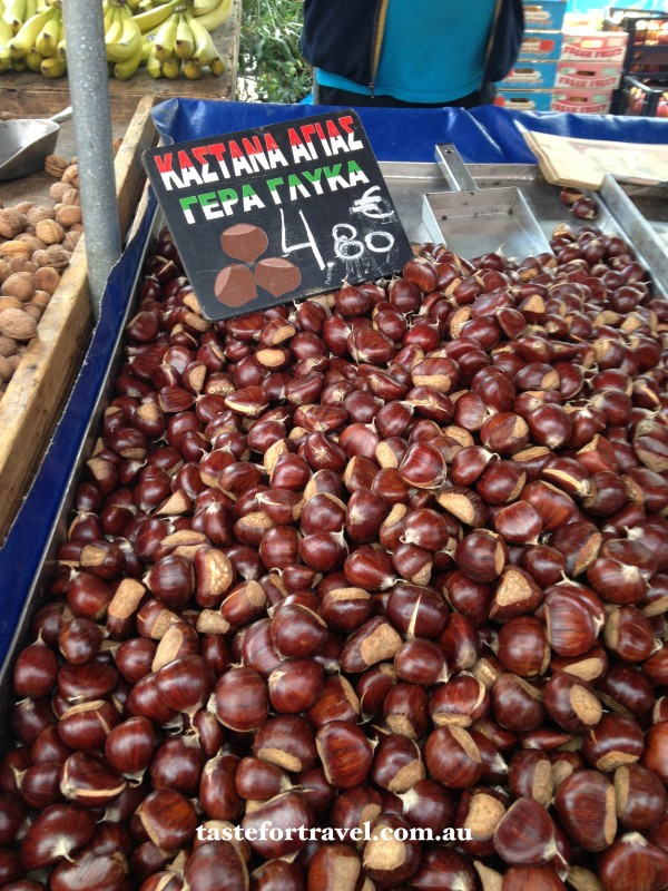 Chestnuts at the Glyfada market