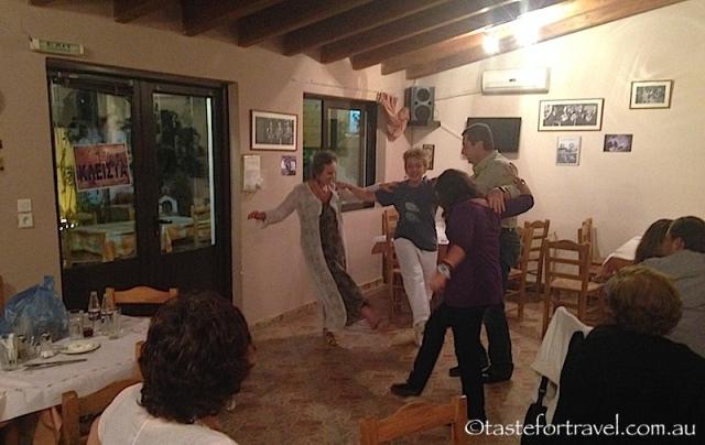 dancing at Taverna To Meraki