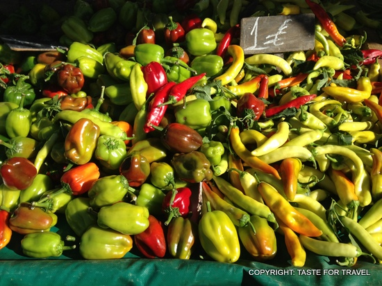 More peppers, Xylokastron market, Greece