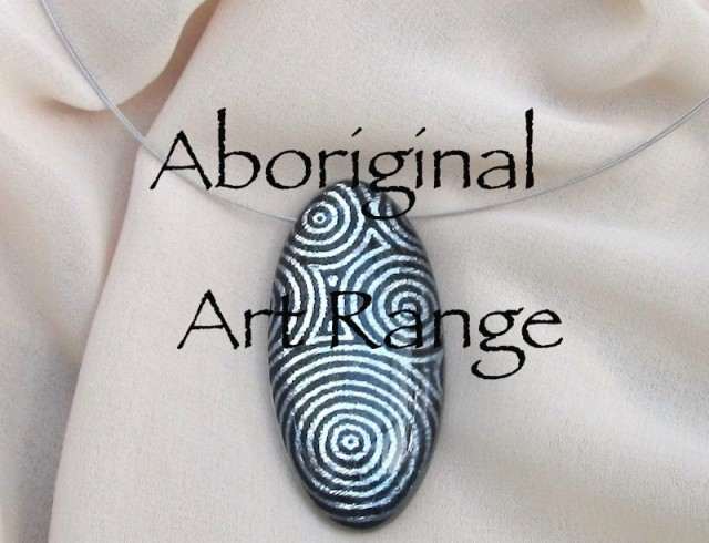 Aboriginal Art Range resin jewellery shop