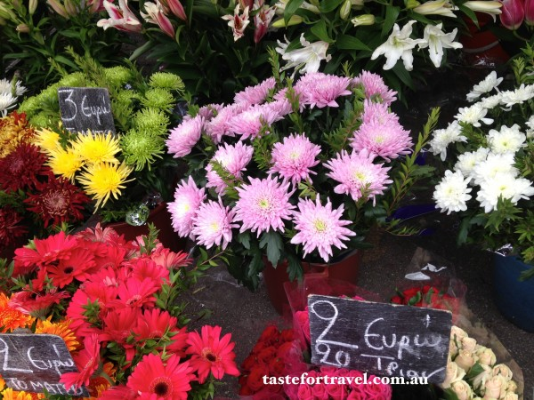 Flowers at the Glyfada market