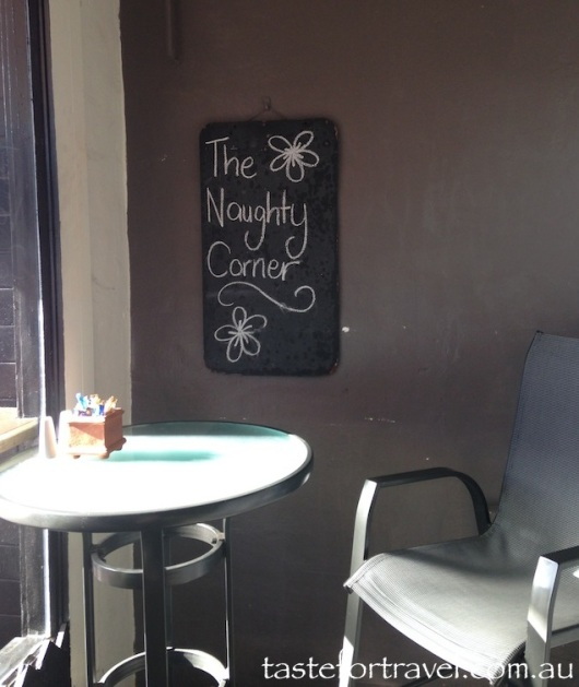 The Naughty Corner at Stone Wall Cafe