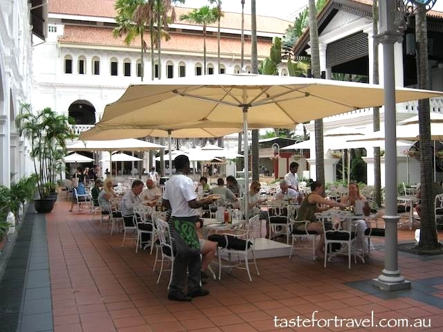 Raffles Hotel courtyard bar