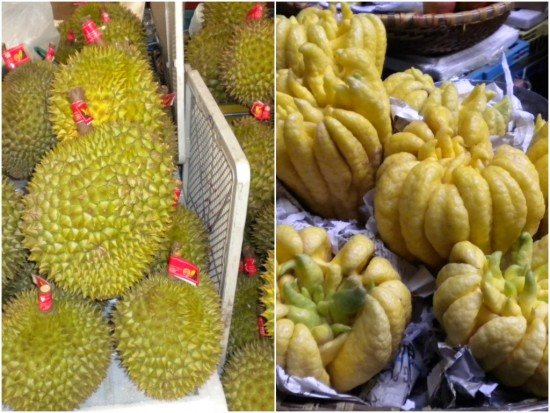 Weird and wonderful fruit at Cho Hpom Market