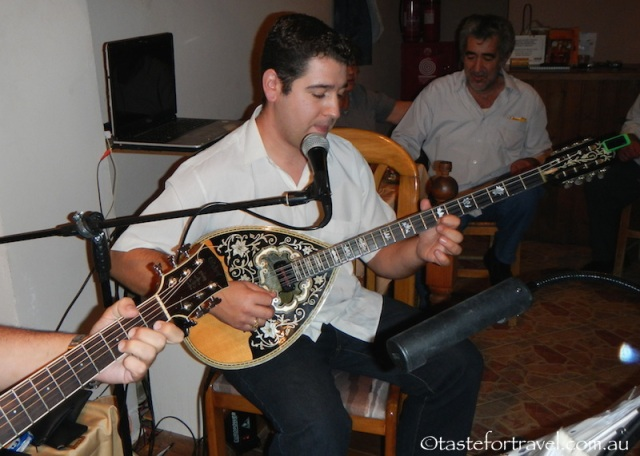 the magic of Alexi the bouzouki player