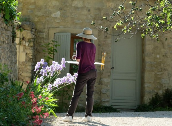 Artist at work at Julian's workshop in Provence