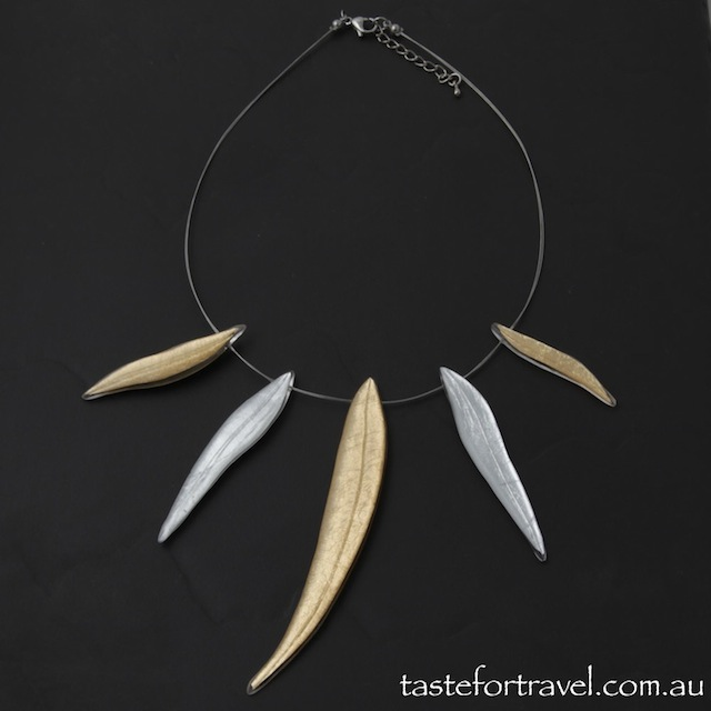 Australia Native Leaf Necklace resin jewellery shop