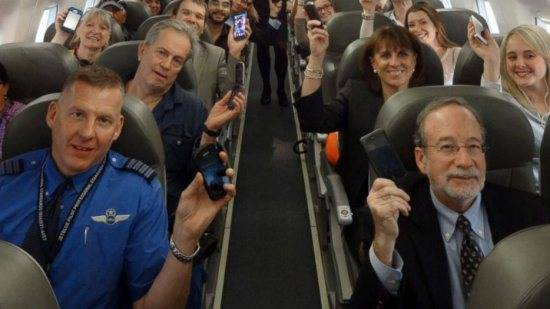 Mobile phones on planes