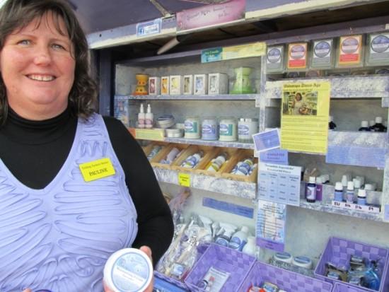 Pauline of Lavender Magic, at Feilding Farmers Market