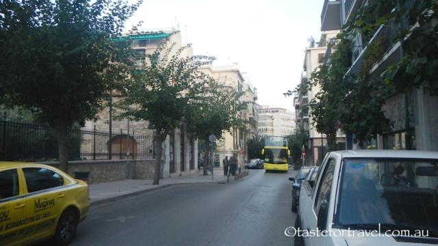 The street outside To Kati Allo