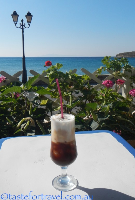 Freddo cappuccino on Andros