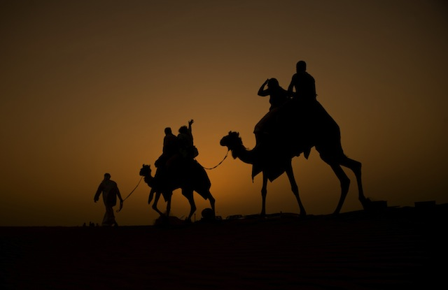 Sunset camel trek Dubai