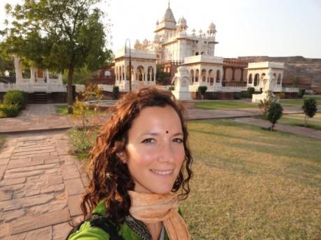 Ariane in India, before she came to Australia