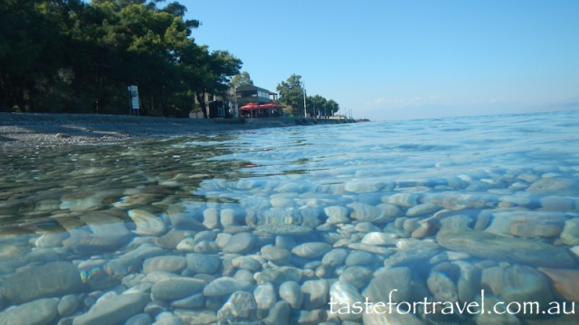 Swimming in Greece in autumn copy