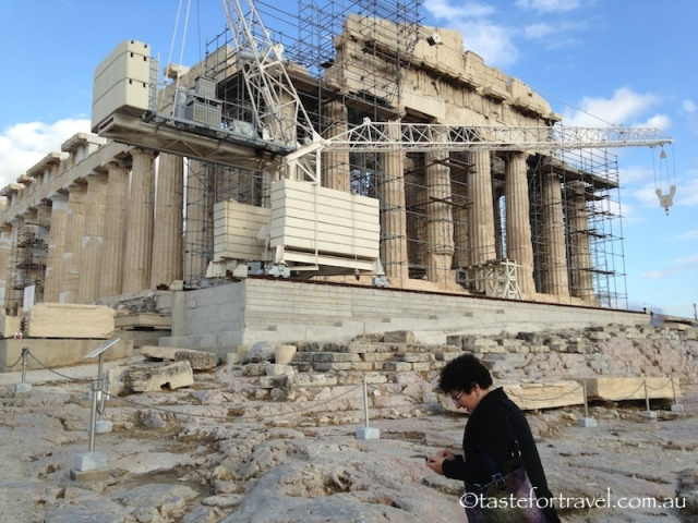 Crane on the Parthenon