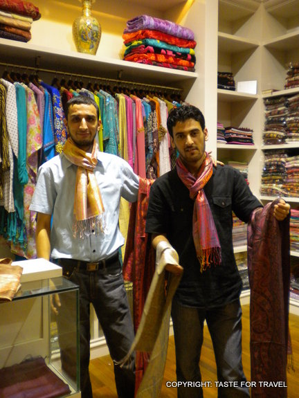 Buying scarves in Dubai (2)