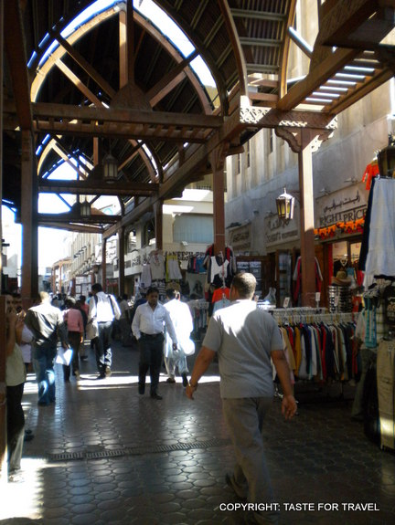 Exploring Dubai's old Souk where silks, spices and scarves are wall to wall