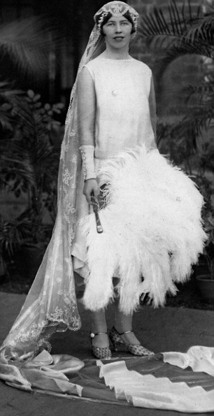 One of the Fishing Fllet girls, Iris Butler on her wedding day in India in 1927