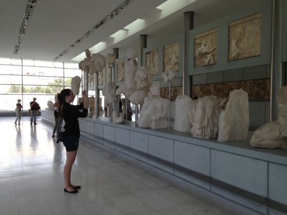 Tourist Kate views the Acropolis treasures, Taste for Travel