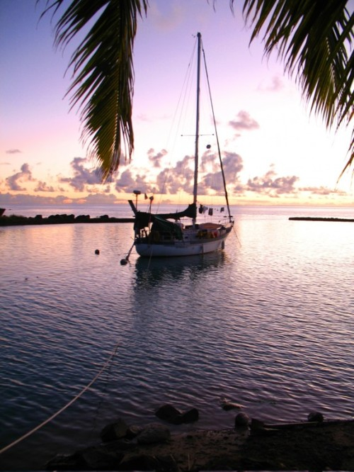 Amazing Grace, the yacht that Torre and Ivan sailed across the South Pacific