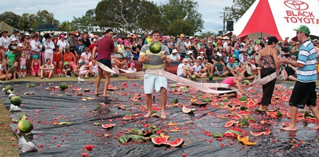 Chinchilla watermelon fest, World's Weirdest Food festivals