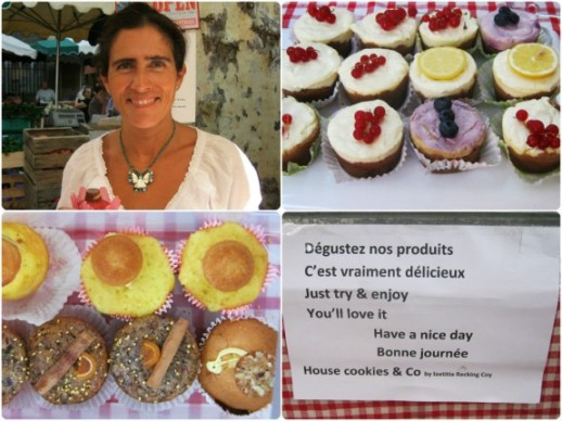 The lovely Laetitia and her organic goodies