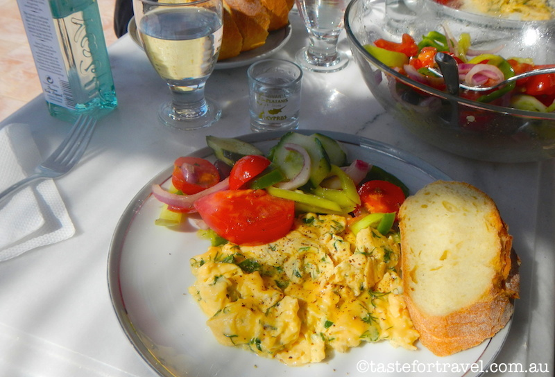 Syros scrambled eggs and salad recipes