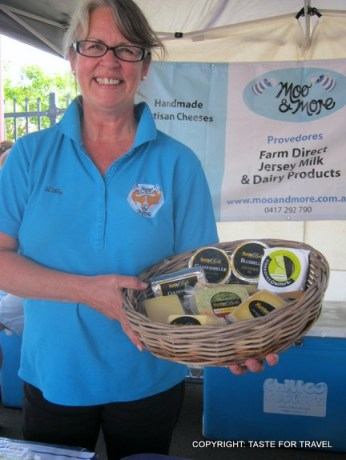 Libby of Moo and More, her butter, cream and cheeses have that WOW factor