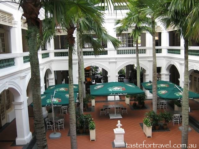 An aspect of Raffles Hotel