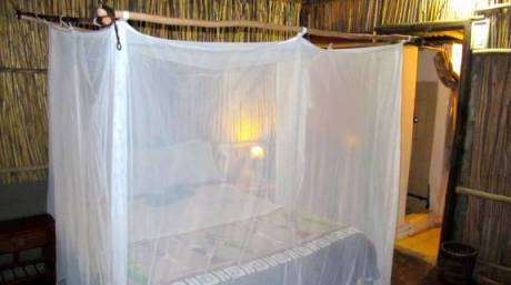 Mosquito nets are a must when staying in the Kruger