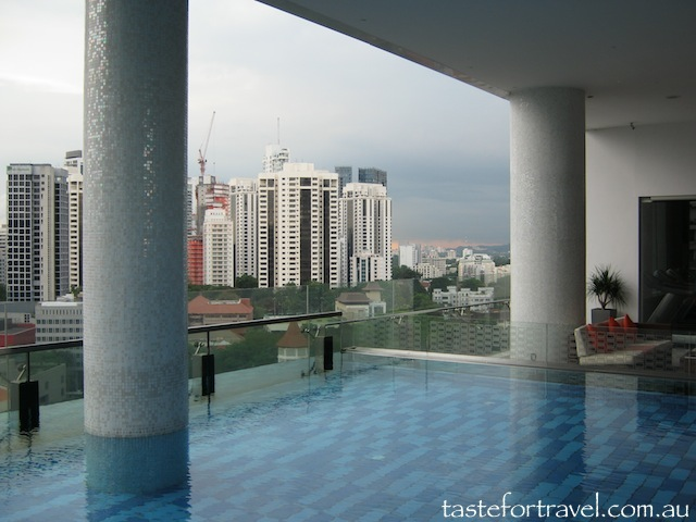 Infinity pool, Quincy Hotel, Singapore