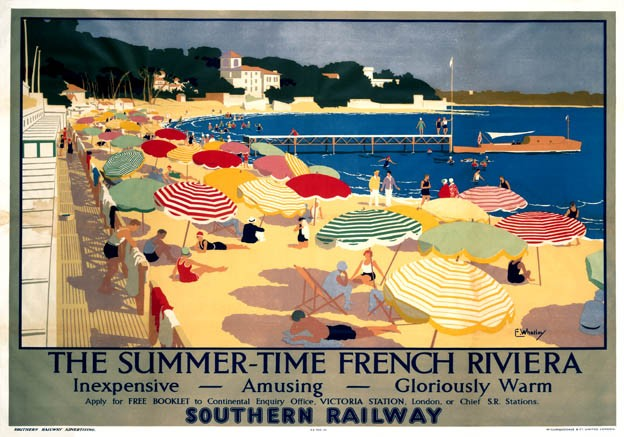 The French Riviera vintage travel posters